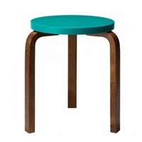 Aalto Stool 60 Turquoise Walnut Stools Furniture Finnish Design Shop