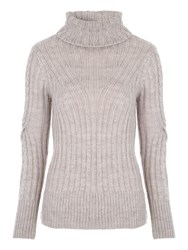 Jane Norman Twist Sleeve Jumper Stone