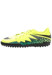 Nike Performance Hypervenom Phelon Ii Tf Astro Turf Trainers Volt Black Hyper Turquoise Clear Jade Neon Yellow