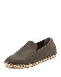 Eileen Fisher Flit Stretch Back Leather Espadrille Ash Grey