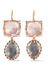 Larkspur And Hawk Sadie Rose Gold Dipped Quartz Earrings