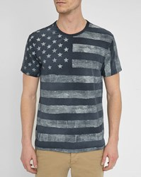 Denim And Supply Ralph Lauren Grey Stars Stripes All Over T Shirt