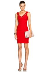 Preen By Thornton Bregazzi Adelina Stretch Satin Dress In Red