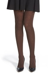 Women's Hue Diamond Textured Control Top Tights Espresso