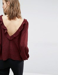 Baandsh Rita Frill Blouse Red