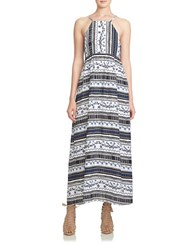 Cece Patterned Maxi Dress White