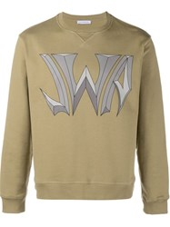 J.W.Anderson J.W. Anderson 'Noughties' Print Sweatshirt Nude And Neutrals