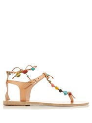 Ancient Greek Sandals Chrysso Leather Sandals Tan Multi