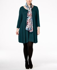 Styleandco. Style Co. Plus Size Swing Dress Only At Macy's New Rustic Teal