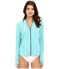 Xcel Wetsuits Kammies Front Zip Hoodie Uv Long Sleeve Heather Honey Dew Women's Sweatshirt Blue