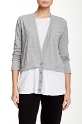 Stateside Slub Cardigan White