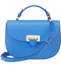 Aspinal Of London Letterbox Leather Saddle Bag Forget Me Not