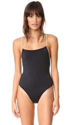 Solid And Striped The Chelsea One Piece Black Nude