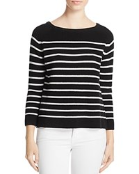 Suncoo Polly Striped Ribbed Sweater Noir