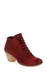 Free People Women's 'Loveland' Bootie Red Suede