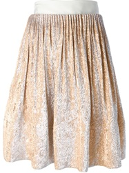 Maison Rabih Kayrouz Metallic Pleated Skirt Yellow And Orange