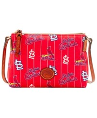 Dooney And Bourke St. Louis Cardinals Nylon Crossbody Pouchette Red