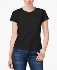 Rachel Rachel Roy Short Sleeve Scuba T Shirt Black