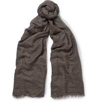 Rick Owens Cashmere And Silk Blend Scarf Gray