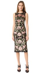 Alice Olivia Nat Embroidered Dress Black Multi