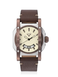 Visconti Up To Date Image Watch Brown White