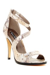 Michael Antonio Joyd Snake High Heel Sandal White
