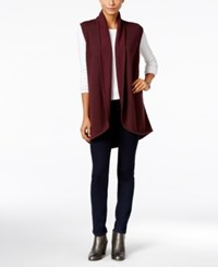 Styleandco. Style Co. Shawl Collar Sweater Vest Only At Macy's Dried Plum
