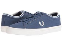 Fred Perry Kendrick Tipped Cuff Canvas Midnight Blue Snow White Men's Lace Up Casual Shoes
