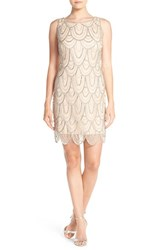 Women's Pisarro Nights Embellished Mesh Cocktail Dress Lt. Blush
