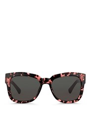 Dries Van Noten X Linda Farrow Square Frame Acetate Sunglasses Pink