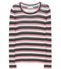 Etoile Isabel Marant Adelaide Chevron Cotton Sweater Multicoloured