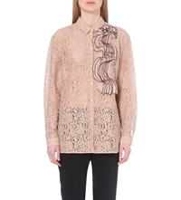 N 21 Frilled Lace Shirt Cipria