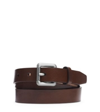 Michael Kors Skinny Leather Buckle Belt Brown