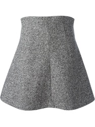 Red Valentino High Waisted Skirt Grey