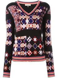 Emilio Pucci Geometric Pattern Jumper Black