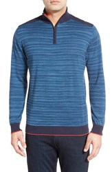 Men's Bugatchi Quarter Zip Cotton Sweater