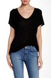 Inhabit Pointelle Tee Black
