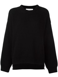 Paco Rabanne Side Zip Jumper Black