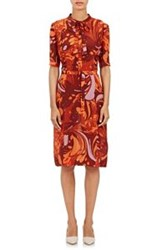Bottega Veneta Elbow Length Sleeve Shirtdress Orange