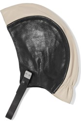 Marni Two Tone Leather Hat Nude