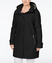 Calvin Klein Plus Size Hooded 4 Way Stretch Softshell Raincoat Black
