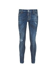 Dsquared 'Sexy Twist' Rip And Repair Slim Fit Jeans Blue