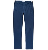 Orlebar Brown Campbell Tapered Stretch Cotton Twill Trousers Blue