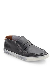 Roberto Vasi Jonah Leather Slip On Moccassins Black