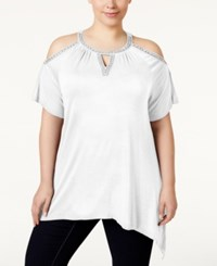 Inc International Concepts Plus Size Cold Shoulder Top Only At Macy's