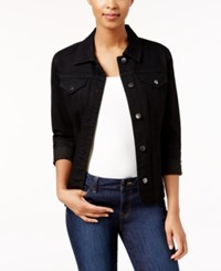 Charter Club Denim Jacket Only At Macy's Saturated Black