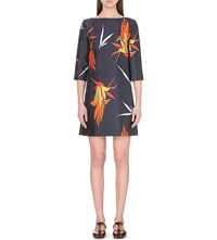 Marni Jacquard Boat Neck Dress Light Navy