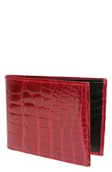 Men's Trafalgar Genuine Alligator Leather Billfold Red