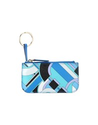 Emilio Pucci Small Leather Goods Key Rings Women Bright Blue