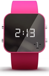 1 Face 'Breast Cancer' Square Digital Silicone Strap Watch 38Mm Breast Cancer Pink
